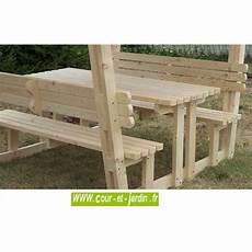 table pique nique bois avec bancs et tonnelle quot