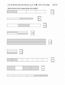 fraction worksheets year 2 free 4176 year 2 worksheets identify and write fractions of a shape teaching resources