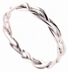 twisted or braided wedding band