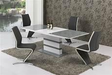 Esstisch Hochglanz Grau - large extending grey glass white high gloss dining table