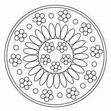 Mandala Malvorlagen Xl Coloring Simple Chamomile Mandala Stock Vector