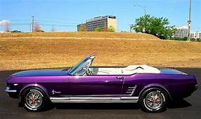 1966 Purple Mustang Convertible I Need To Live In LA And