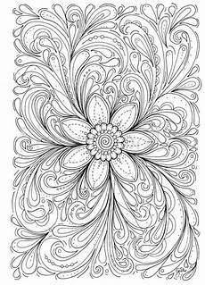 floral coloring page of a flower instant