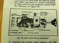 1958 chevy truck headlight switch wiring diagram wiring diagram