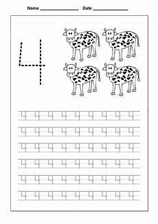 number 4 worksheets to print activity shelter