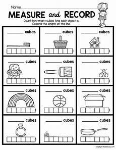 grade 1 measurement worksheets free 1990 measure and record kindergarten math worksheet length width easy math center idea for