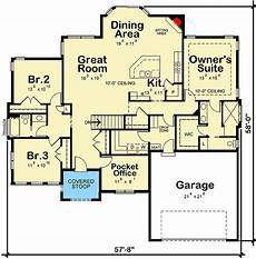 craftsman ranch house plans plan 42556db craftsman ranch home plan with pocket office