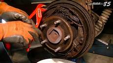 how to replace drum brake shoes change wheel cylinder in