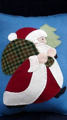 felt applique patterns applique santa pillow wool felt quilting