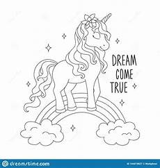 unicorn on a rainbow coloring pages come true text
