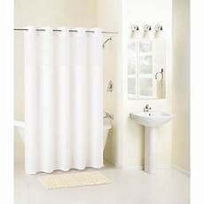 hookless mystery shower curtain mainstays hookless mystery white fabric shower curtain 1