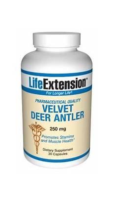 velvet deer antler 250 mg 30 capsules life extension 2020