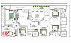 2700 square feet house ground floor plan with furniture