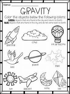 gravity activity or assessment freebie for
