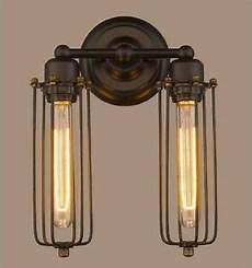 2 head modern vintage retro industrial rustic sconce cage wall light l uk ebay
