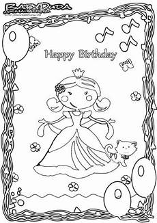 Ausmalbild Prinzessin Geburtstag Ausmalbilder Malvorlagen Geburtstag Babyduda 187 Malbuch