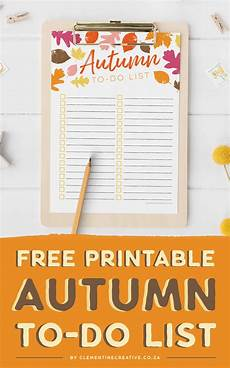 Free Printable Autumn To Do List Get Excited For Fall