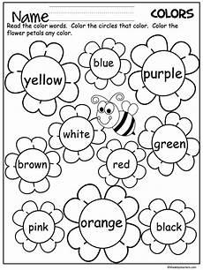 flower color words worksheet madebyteachers