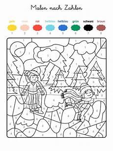 kostenlose malvorlage malen nach zahlen kinder beim