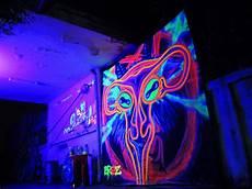 sigil of baphomet uterus black light graffiti art by