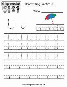 letter tracing worksheets u 23322 kindergarten letter u writing practice worksheet printable writing practice worksheets