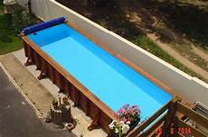 couloir de nage hors sol bois couloir de nage en bois vercors piscine