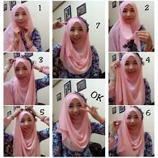 Model Jilbab Segi Empat Untuk Kebaya Voal Motif