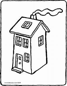 Malvorlagen Haus Haus Kiddimalseite