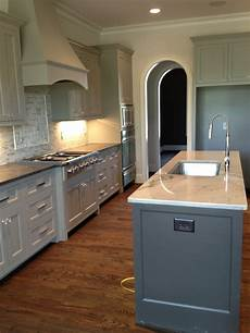 sherwin williams dorian gray cabinets and urbane bronze islands eider white paint walls