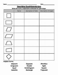 geometry name the polygon and decompose shapes 7 page free download math pinterest