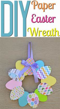 diy paper easter wreath a craft in your day