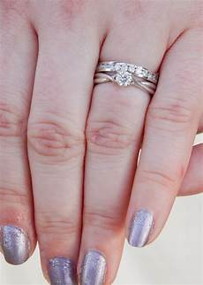 how to wear wedding and engagement rings engagement ring wedding band which way to wear it