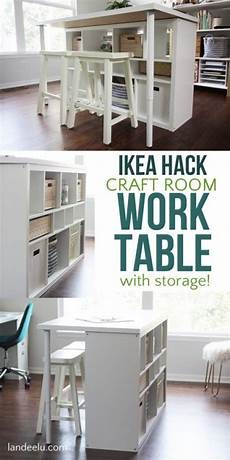 ikea hack craft room work table landeelu com