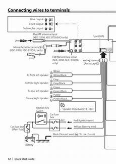 connecting wires to terminals kenwood kdc x898 user manual page 12 48