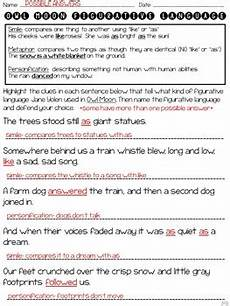 owl moon figurative language freebie by ideas by jivey tpt