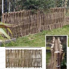 Barriere De Jardin Barri 232 Re Noisetier L 120cm X H 60cm Avec Tige Cloture Et