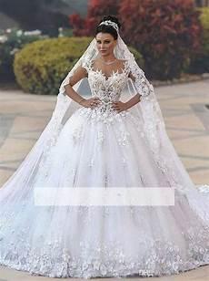 luxurious princess wedding dresses 3d floral appliques cap sleeve ball gowns bridal gowns chapel