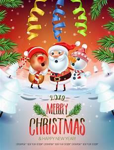 2019 merry christmas happy new year behance