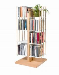 scaffale porta cd porta cd a colonna in legno naturale o nero 100 cd zia