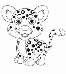 top 25 free printable leopard coloring pages