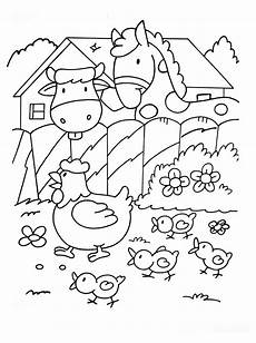 In The Farm Animals Coloring Pages