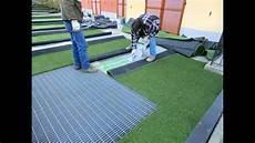 prato artificiale terrazzo come posare erba sintetica finta e prato artificiale