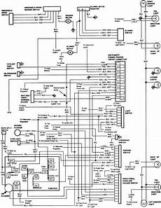 1984 Ford Bronco Instrument Panel Wiring Diagram All