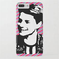 5 plus norm jace norman print pink stripe iphone by dick p society6
