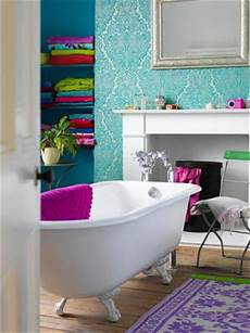 funky bathroom wallpaper ideas blissful bathrooms part i