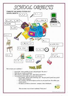worksheets classroom objects 18220 school objects worksheet free esl printable worksheets made by teachers