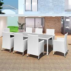 Salon De Jardin 8 Places En Poly Rotin 4 Coloris