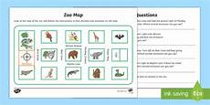 zoo map worksheet activity sheet mathematics year 1 year 2 measurement