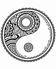ying yang symbol printable image to color
