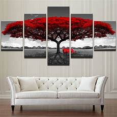 modular canvas hd prints posters home decor wall art pictures 5 pieces tree art scenery